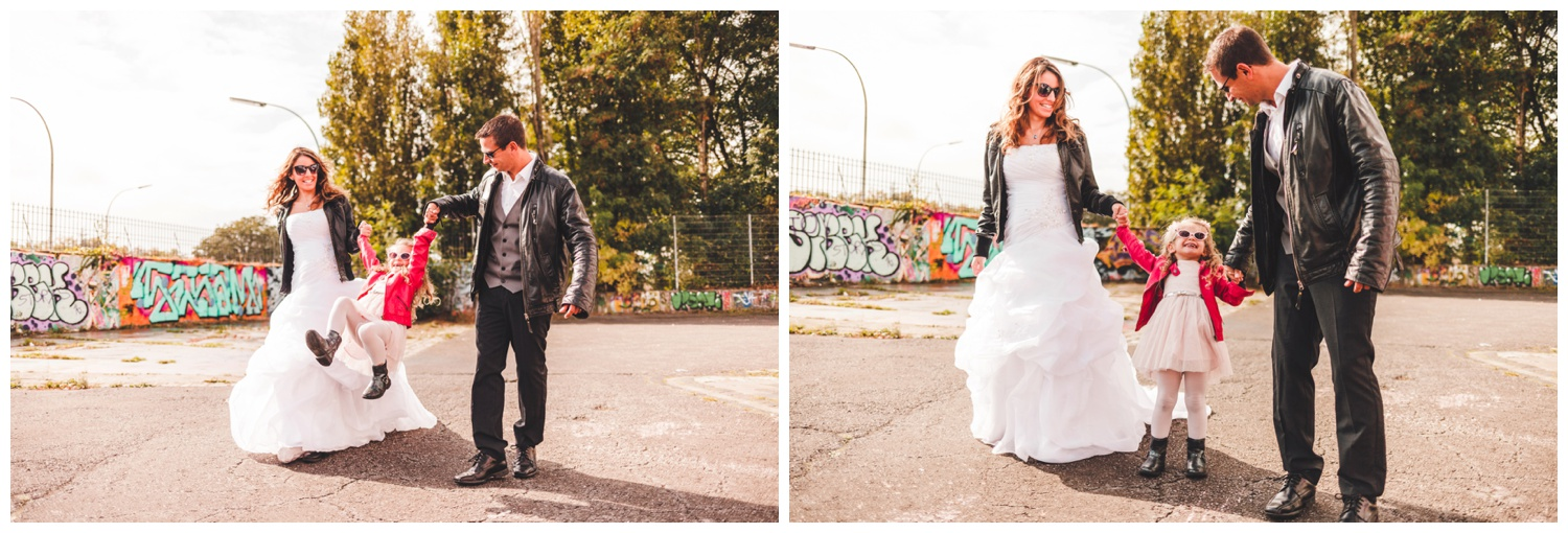 photographe mariage luxembourg seance noce cuir graffiti luxembourg